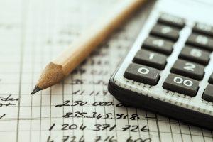 Calculator and pencil