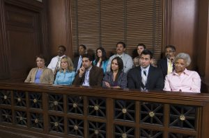 Jurors in jury box