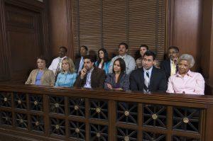 Jurors in jury box