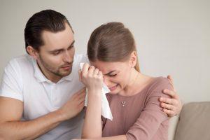 Mourning couple