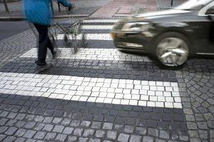 Pedestrian in crosswalk