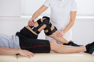 Man receives physical therapy