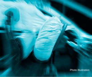 photo illustration airbag exploding