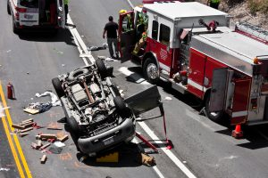 First Responders at a Ford Explorer Rollover Accident