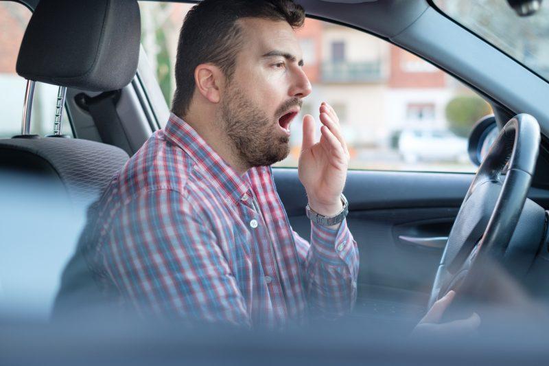 Drowsy Driver Yawns