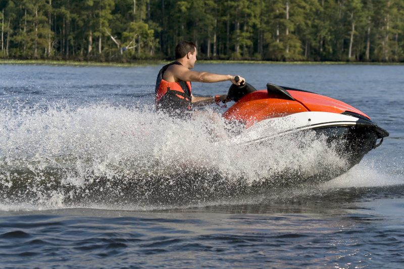 Man on a personal watercraft