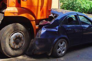 truck crash with car